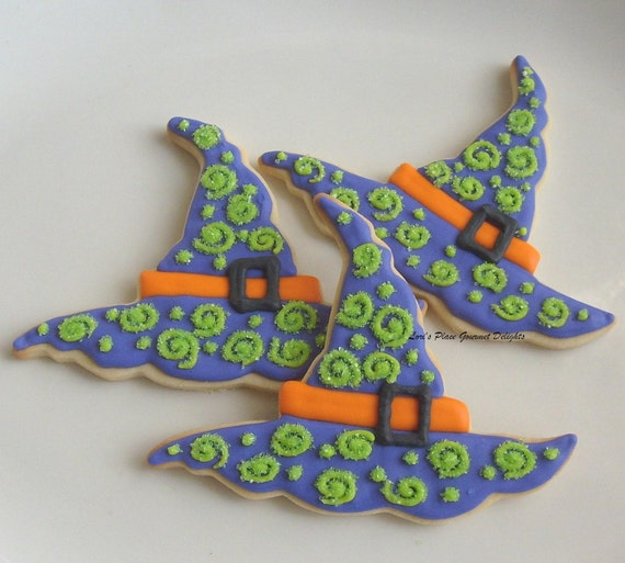 Halloween Witches Hats Treats Witch Hat Cookies Halloween