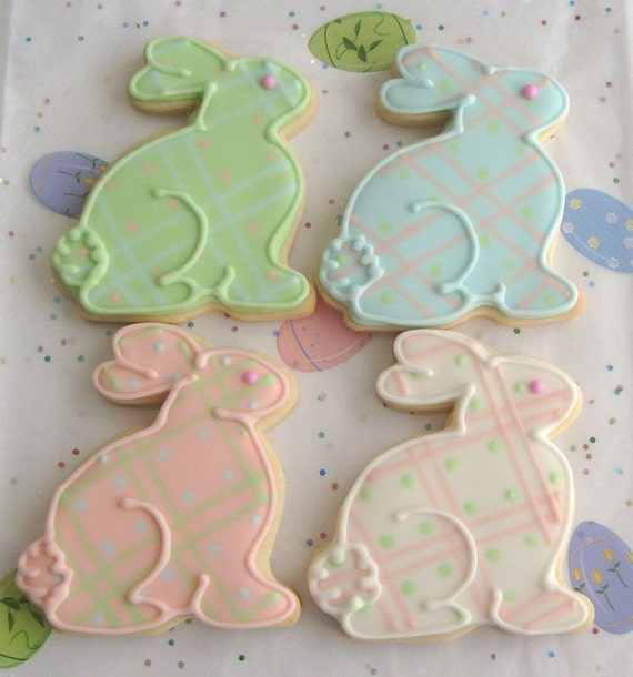Reserved for Elaine---Bunny Cookies - Easter Cookies - Baby Shower Cookies - 1 Dozen