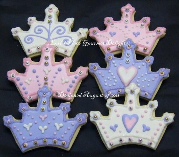 Princess Crown - Tiara  Cookie Favors - Crown - Tiara Cookie Favors - Prince Crown Cookie Favors - 1 Dozen