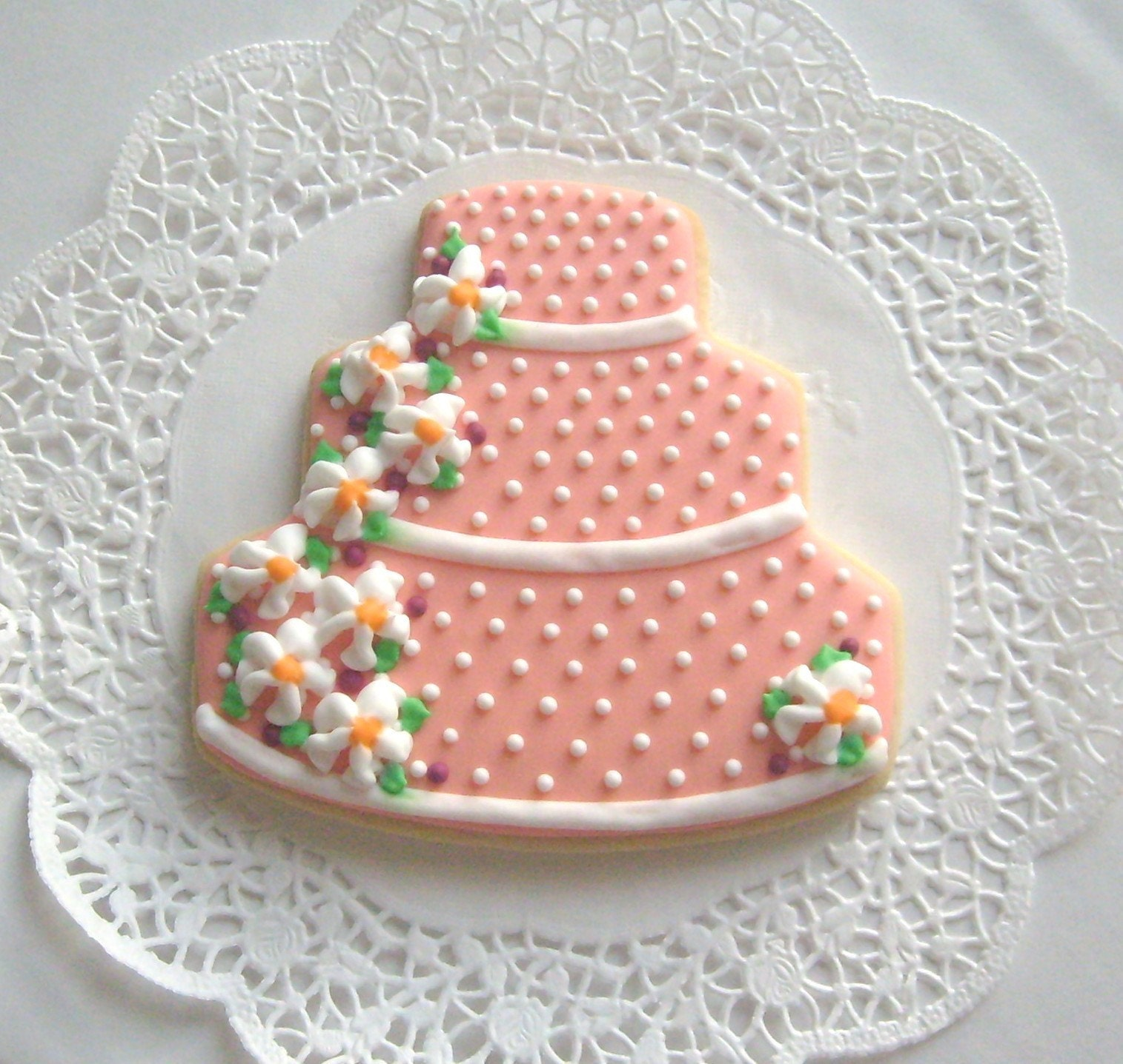 decorated wedding cake cookies wedding cake cookies coral wedding cookie favors 13376