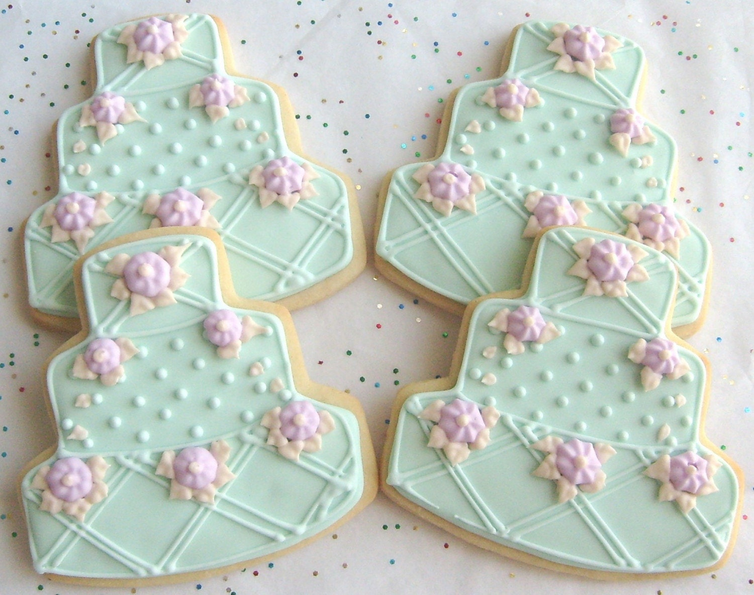decorated wedding cake cookies reserved for katrinaoceanside wedding cake cookie by 13376