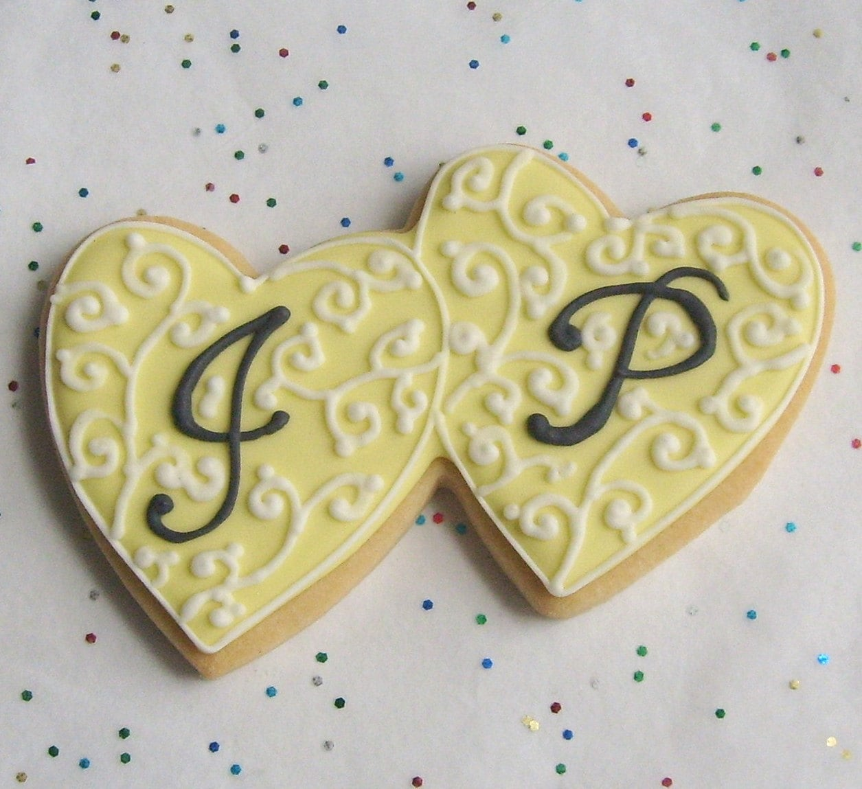 Reserved For Whitelc1225Heart Wedding Cookie Favors By Lorisplace