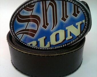 Shiner Blonde ..... Labeled Belt Buckle