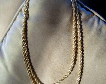 Convertible Vintage Bold n Gold link Necklace Bracelet or Belt