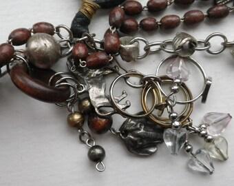 Rare Fetish Steampunk Handmade Vintage Necklace
