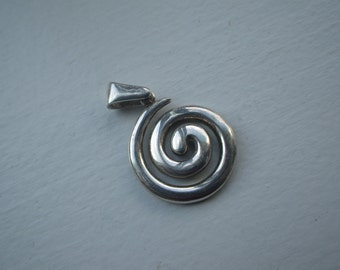 Hypnotic Swirl Sterling Necklace/Charm