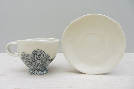 Cycles Cappuccino Cup and Saucer