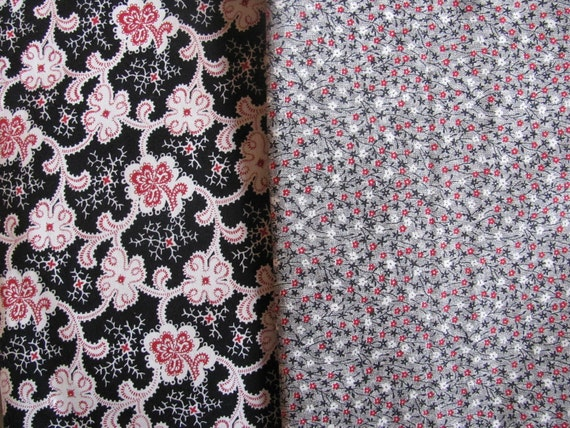 DeStash Super Sale - 2 yard bundle - Wyndham Fabrics Vintage Reprints Garibaldi II and Elizabeth