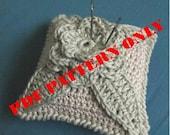 PDF CROCHET PATTERN - Crochet pincushion in pastel tones - light grey and light green