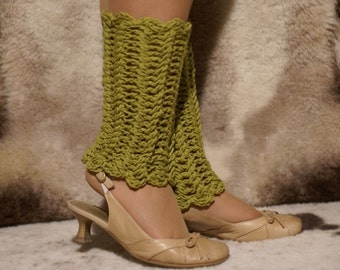 Crochet Olive Leg Warmers
