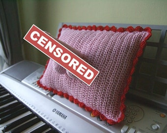 Original Gifts - Warning - Adults Only - Crocheted Willypillies - Penis Pillow
