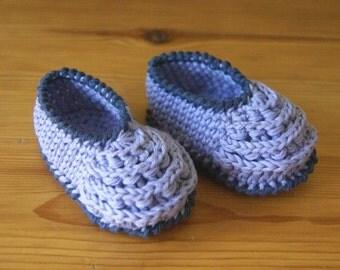 Newborn 0-3 Months Baby Crochet Booties From Organic Cotton Yarn