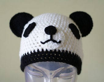Halloween Cartoon Panda  Handmade Crocheted Children Autumn Hat - 2