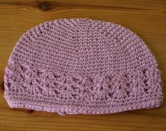 Newborn 0-3 Months Pink handmade crochet baby hat