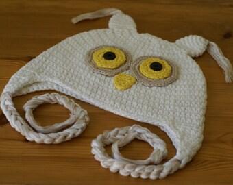 Halloween Cartoon Owl Handmade Crocheted Toddler Hat