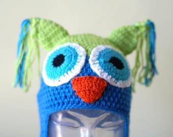 Halloween Cartoon Owl Handmade Crocheted Children Autumn Hat