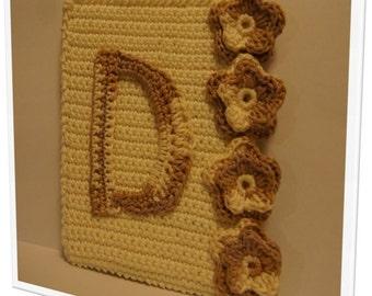"""Cute crochet alphabet - """"D"""". Door frame or closet"""