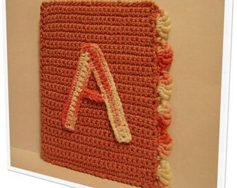 """Cute crochet alphabet - """"A"""". Door frame or closet"""