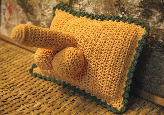 Crocheted Penis Pillow