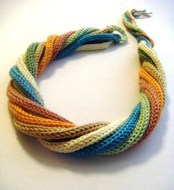Multicolor crochet headband or necklace for woman and girl