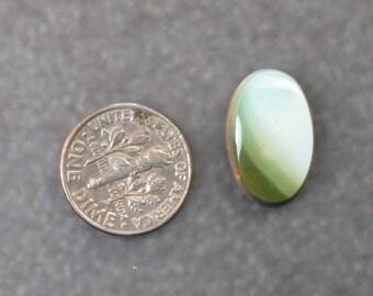 lovely SOFT GREEN JASPER oval cabochon 1