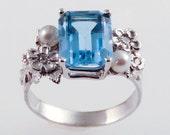 Emerald Cut Peridot Ring (CUSTOM)