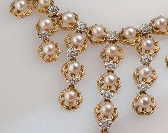 Pearl & Diamond Princess Necklace