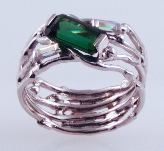Abstract Tourmaline Eco-Ring