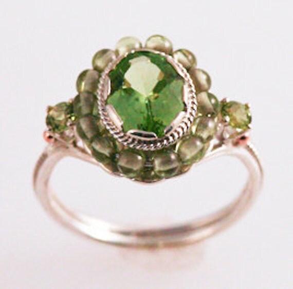 Grassy Green Peridot Ring
