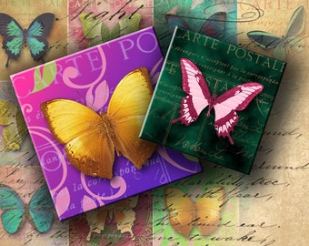 INSTANT DOWNLOAD Digital Collage Sheet Magic Butterflies 2 inch Squares - DigitalPerfection digital collage sheet 828