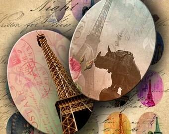 Instant Download Digital Collage Sheet Eiffel Tower Ovals 30 X 40 mm images - DigitalPerfection digital collage sheet 903