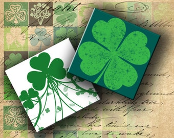 INSTANT DOWNLOAD Digital Collage Sheet St. Patrick's Day 1 inch Squares - DigitalPerfection digital collage sheet 025