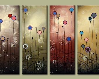 Large wall artwork Modern Abstract Art Contemporary Wall Art Abstract Art Multiple Canvases Large Original Painting for Home Decor or Office