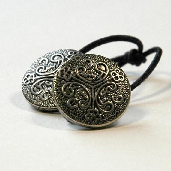 Ponytail Holder Hair Accessory - Celtic Knot Motif, Doublet