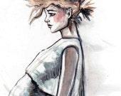 Mohawk Fashion Illustration Print