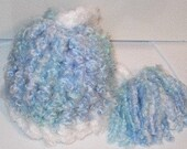 Elf Hat Blue and White Size 0-3 Months