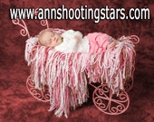 Clearance  for 25.00    only one left   Pixie Dust Fringe Blanket . Newborns, toddlers, and maternity photography prop. .