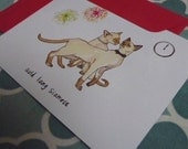 Auld Lang Siamese - Set of 4 Cards