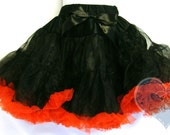 Black and red tutu pettiskirt Size Med - Ready to ship