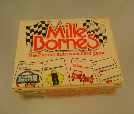vintage mille bornes french auto race card game from by noobootoo. Black Bedroom Furniture Sets. Home Design Ideas