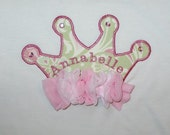 Custom Listing for Andrea Caskey - two personalized shabby chic crown shirts