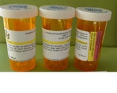 Custom Medical Theme Prescription Bottle and Stickers, Set of 10