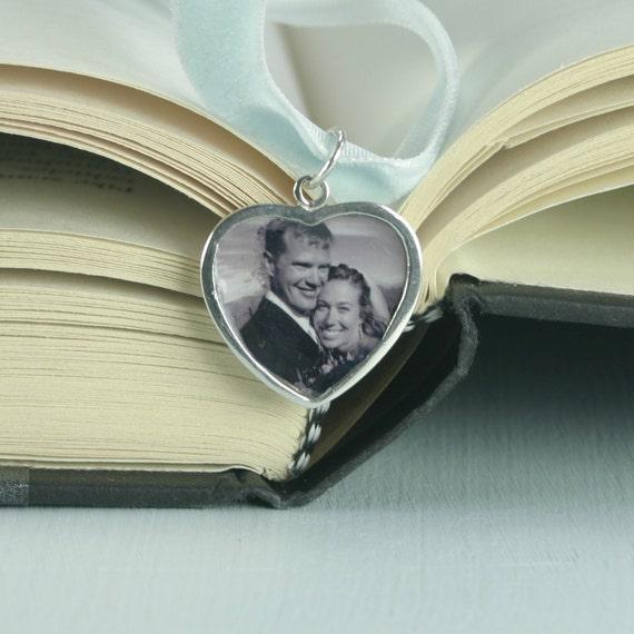 Sterling Silver Heart Wedding Bouquet Charm