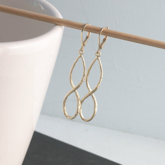 Twisted Golden Hoops