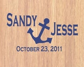 Personalized Anchor Monogram Dance Floor or Wall Decal