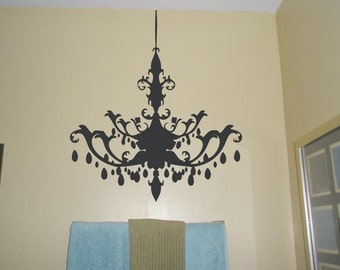 Chandelier Vinyl Decal Wall Sticker
