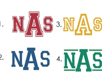 Personalized Varsity Style Name - Select ANY design - vinyl wall decal