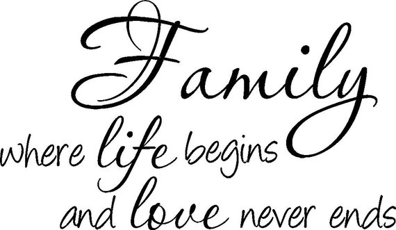 Items similar to Large FAMILY were life begins and LOVE ...