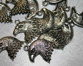 Eagle Charms, Bald Eagle, American Pride, Silver Pewter, 10 Pieces, Hawk, Bird, Wings, Patriotic