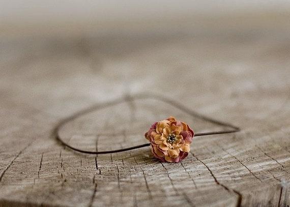 Petite Newborn Flower Headband - Rust